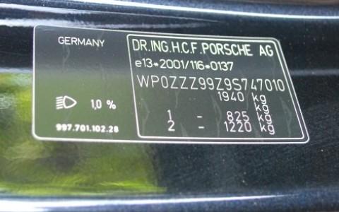 Porsche 997 4S cabriolet 3.8 385cv WP0ZZZ99Z9S747010