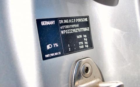 Porsche Cayman S 3.4 295cv WP0ZZZ98Z7U770842