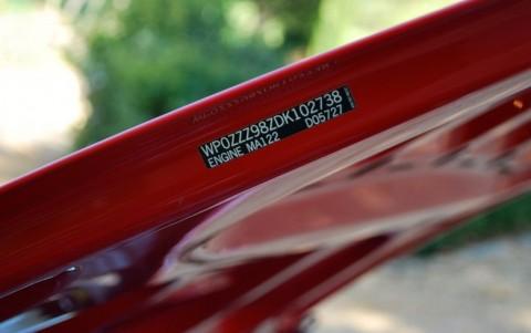 Porsche Boxster 981 2.7 265cv PDK Etiquette capot avant : WP0ZZZ98ZDK102738