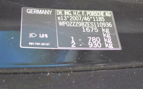 Porsche Boxster 981 2.7 265cv PDK WP0ZZZ98ZES110936