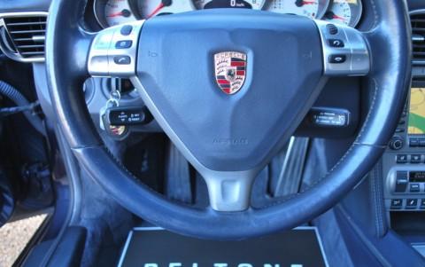 Porsche 997 Carrera S Cabriolet 3.8 355cv 991 : Volant multifonctions en cuir lisse avec Airbag