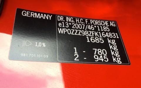 Porsche Cayman 2.7 275cv PDK WP0ZZZ98ZFK164831